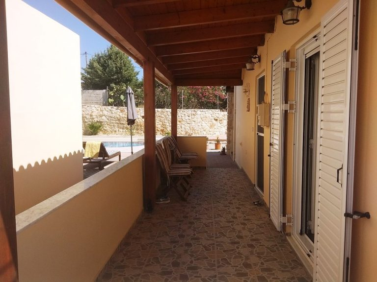 House in Chania Crete for sale veranda