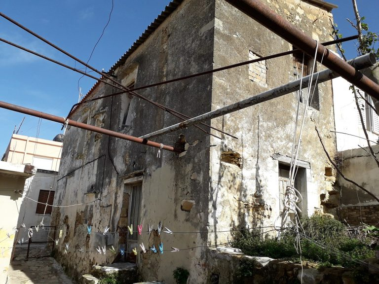 stone house for sale in chania side view
