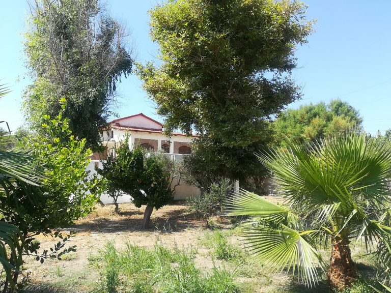 house for sale in chania kolymbari back garden