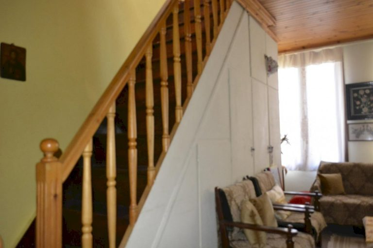 Houses for sale in the old town of Chania Crete wooden staircase CH097