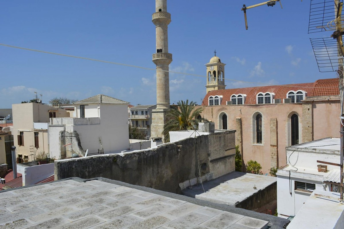 Houses for sale in the old town of Chania Crete terrace views CH097