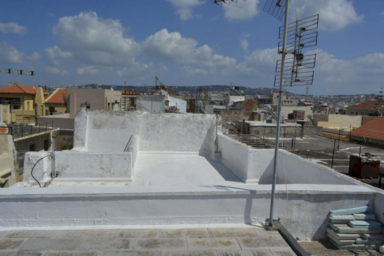 Houses for sale in the old town of Chania Crete views from the roof terrace CH097