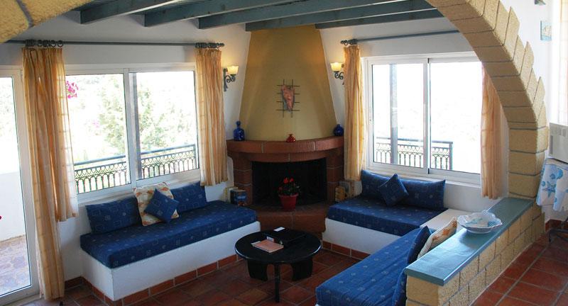 villa for sale in chania crete fireplace