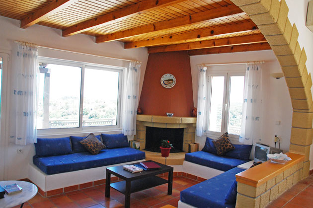 villas for sale in chania crete fireplace