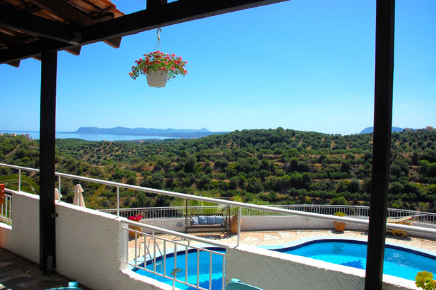 villas for sale in chania crete pool and views