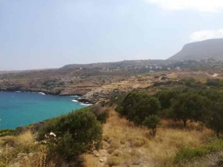 plot of land with sea view in chania sea and mountain views