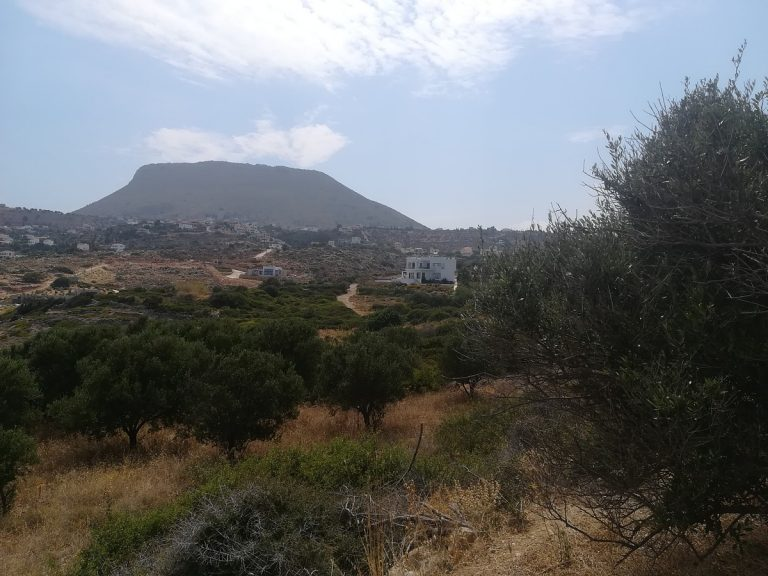 plot of land with sea view in chania mountain view
