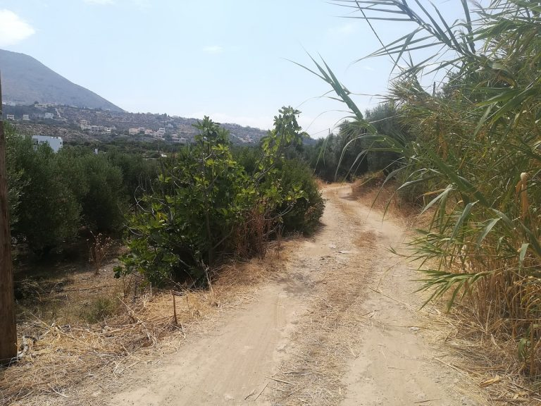 plot of land with sea view in chania road
