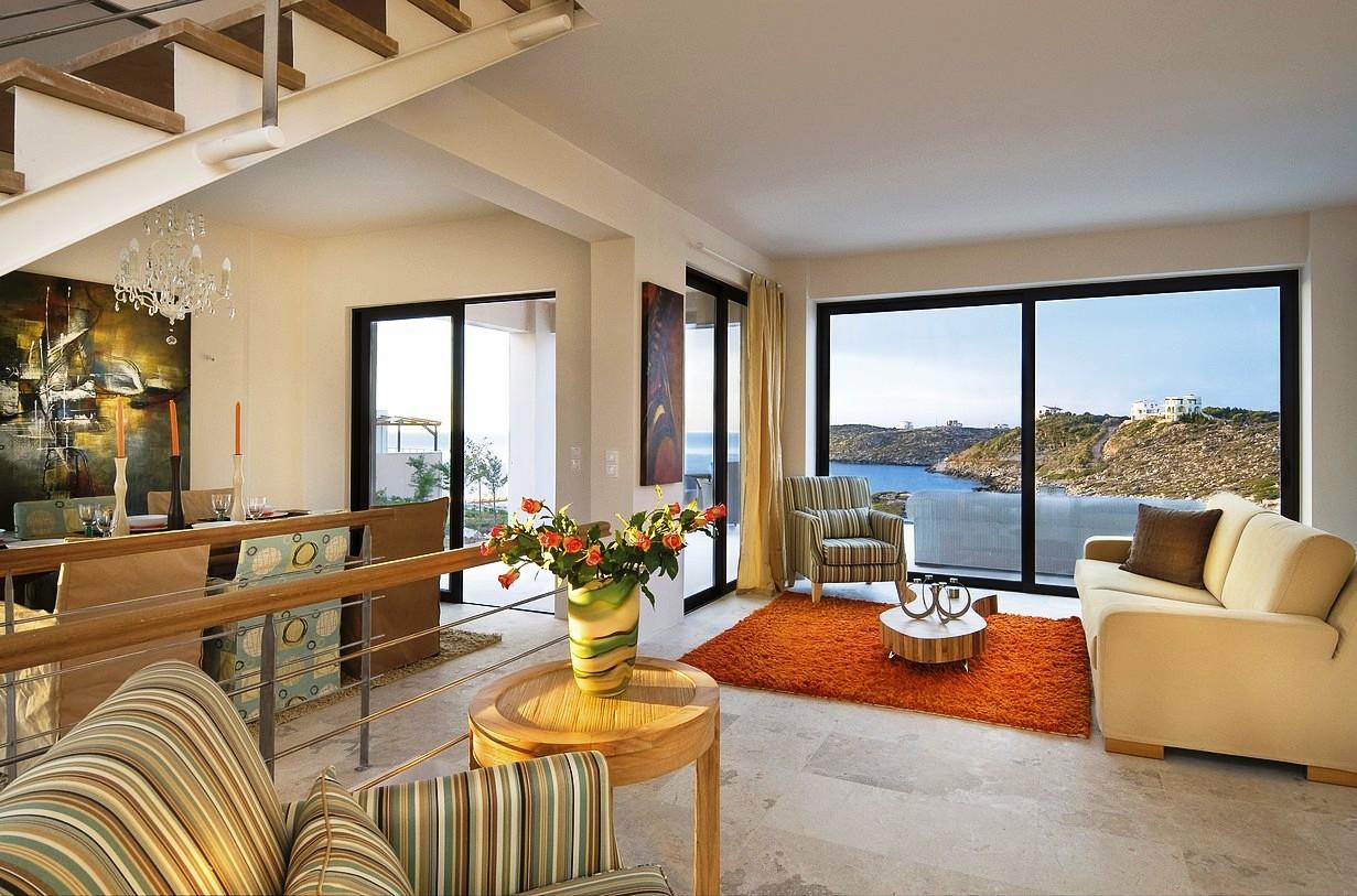 hotel for sale in crete akrotiri living area