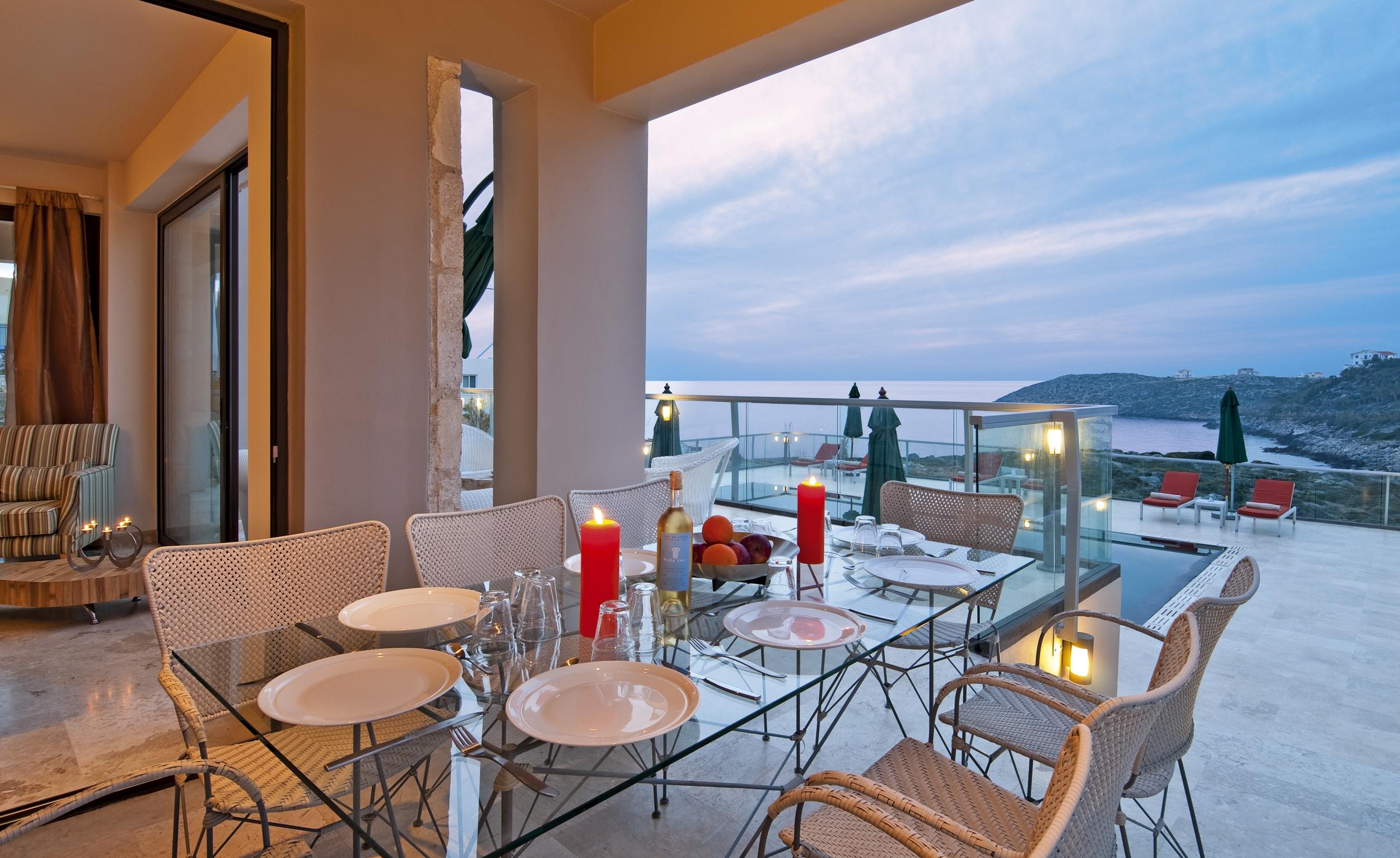 hotel for sale in crete balcony view
