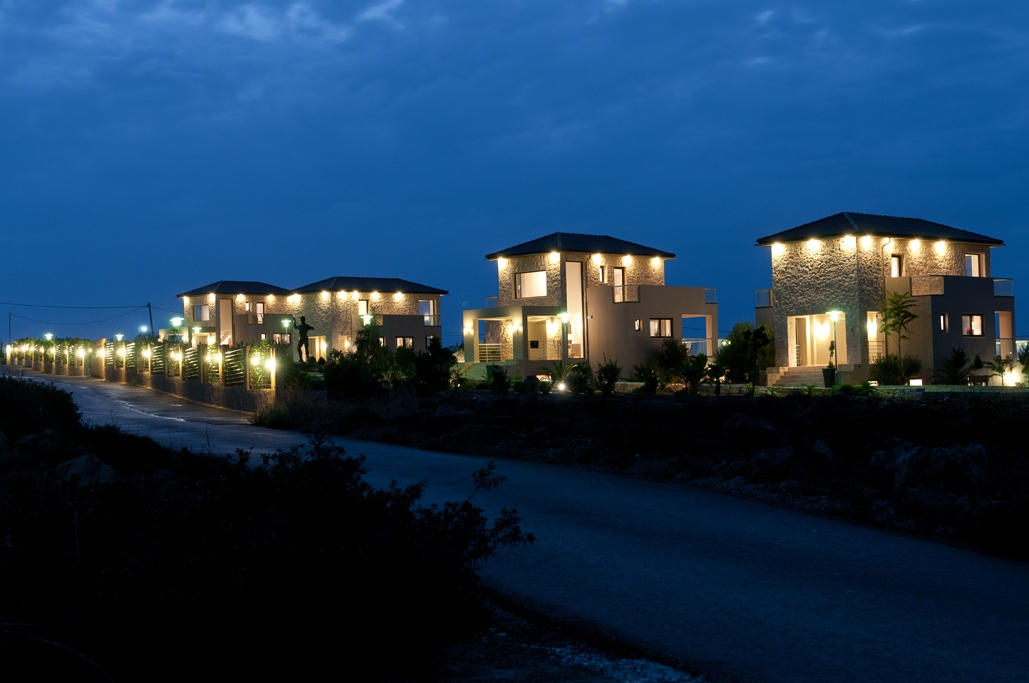 hotel for sale in chania akrotiri night view