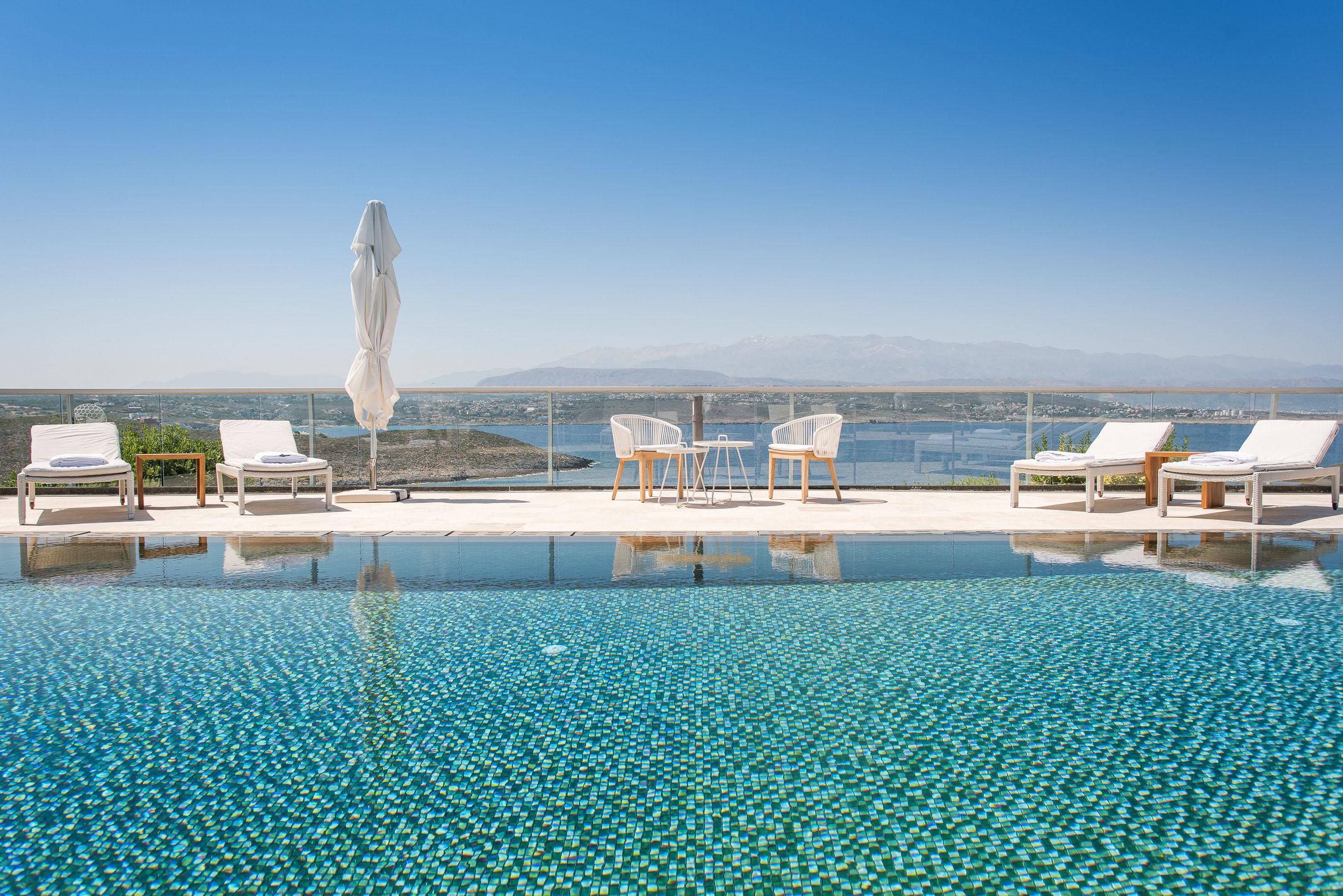 hotel for sale in crete akrotiri pool view