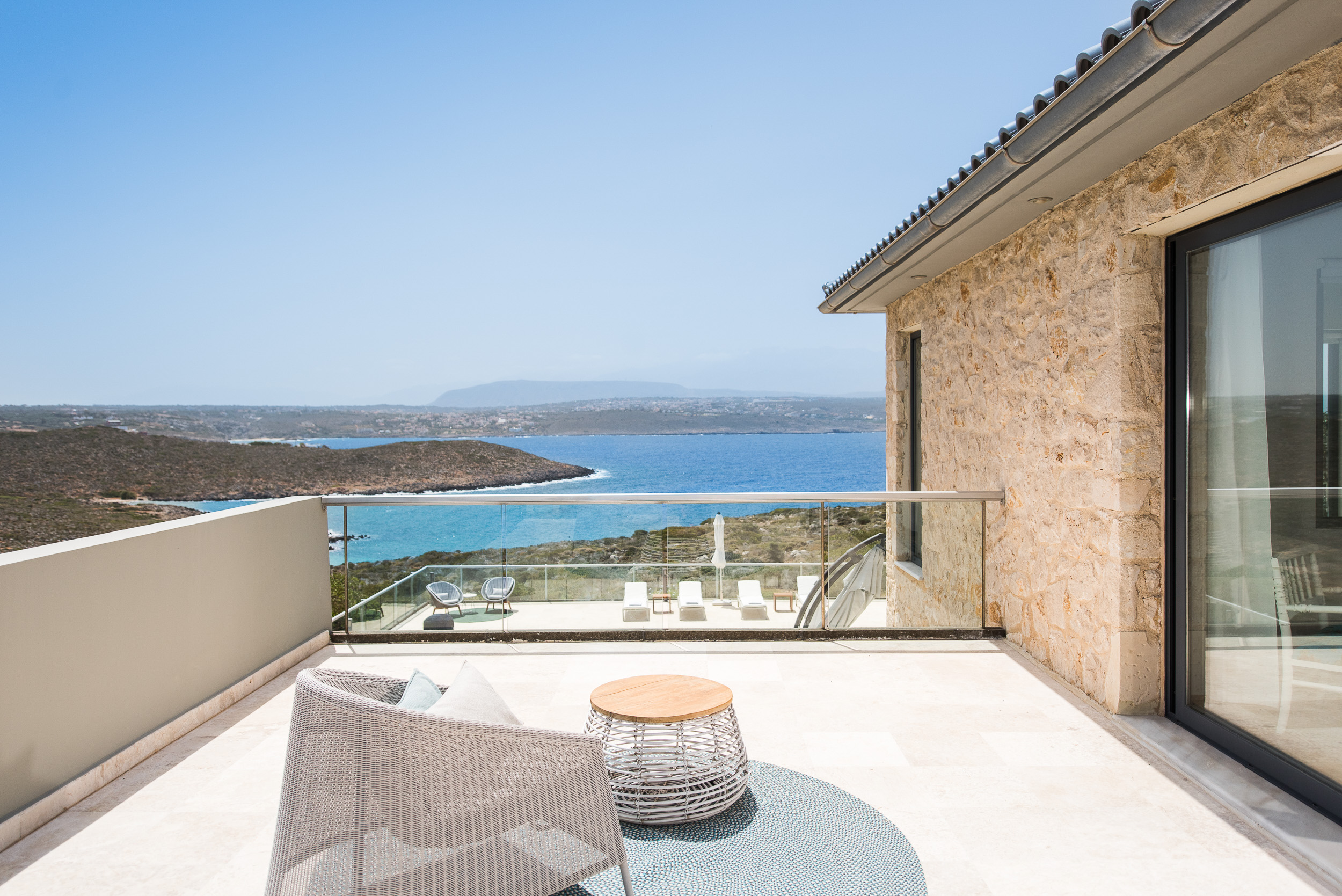 hotel for sale in crete akrotiri balcony view