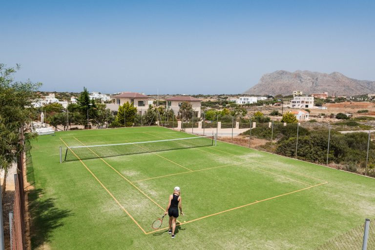 hotel for sale in crete akrotiri tennis court
