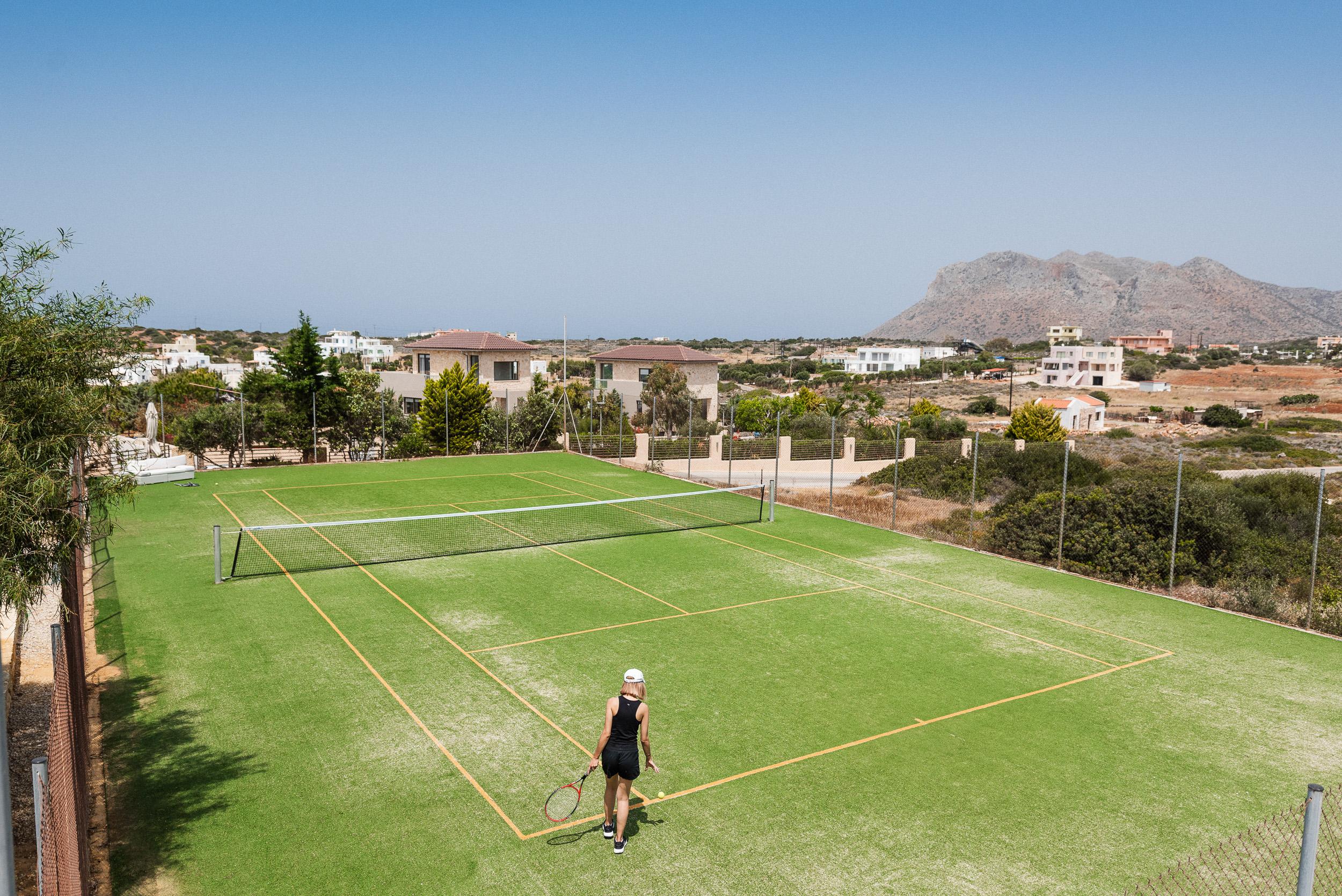 hotel for sale in crete akrotiri tennis court
