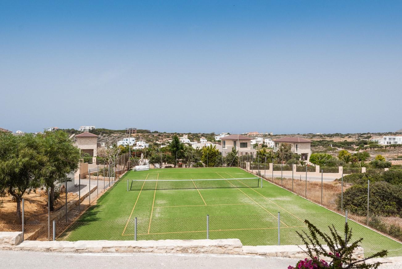 hotel for sale in crete akrotiri villa tennis court
