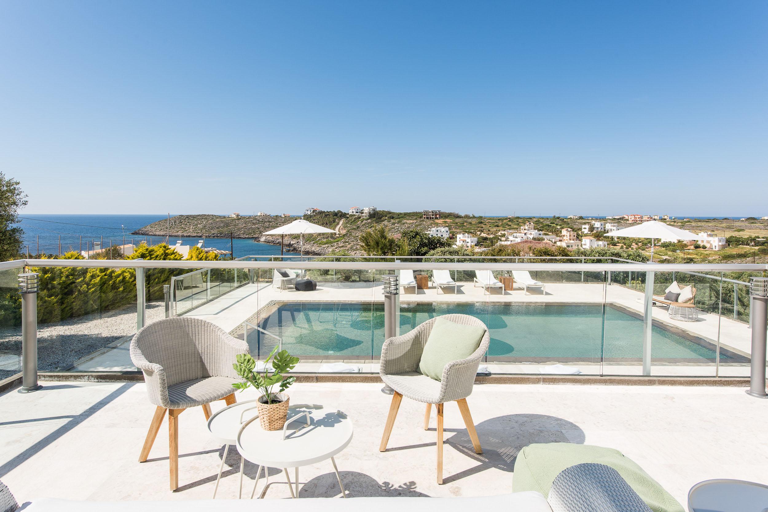 hotel for sale in crete akrotiri villa pool area