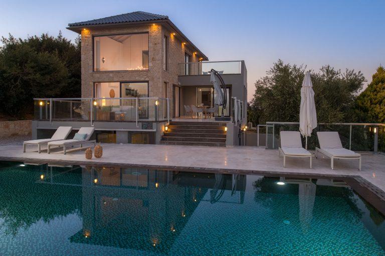 hotel for sale in crete akrotiri villa external view