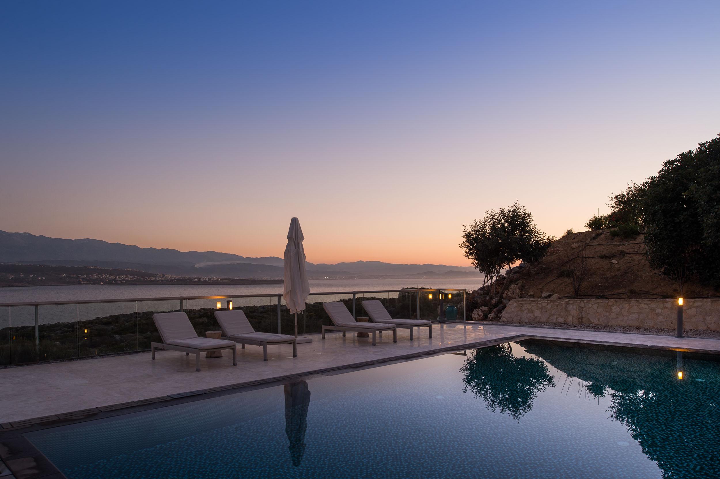hotel for sale in crete akrotiri pool and sea view
