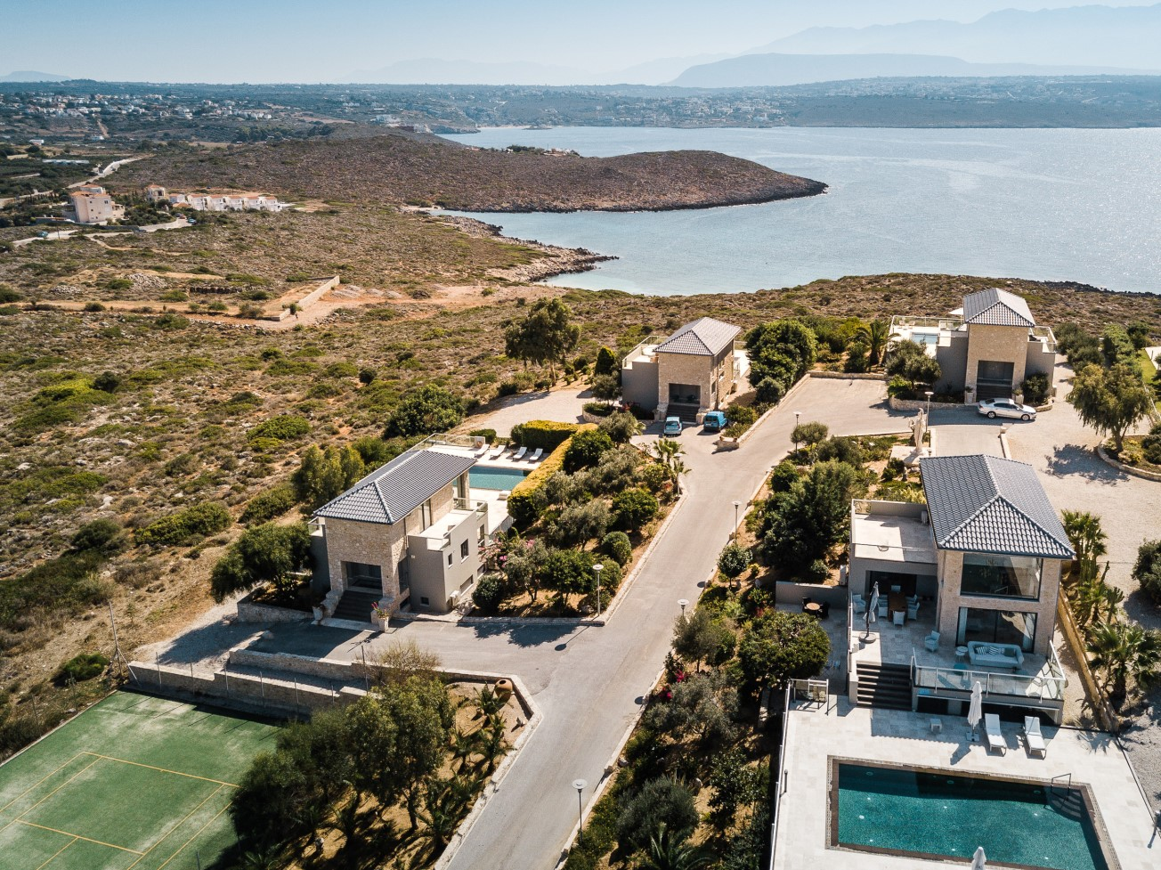 hotel for sale in crete aerial view