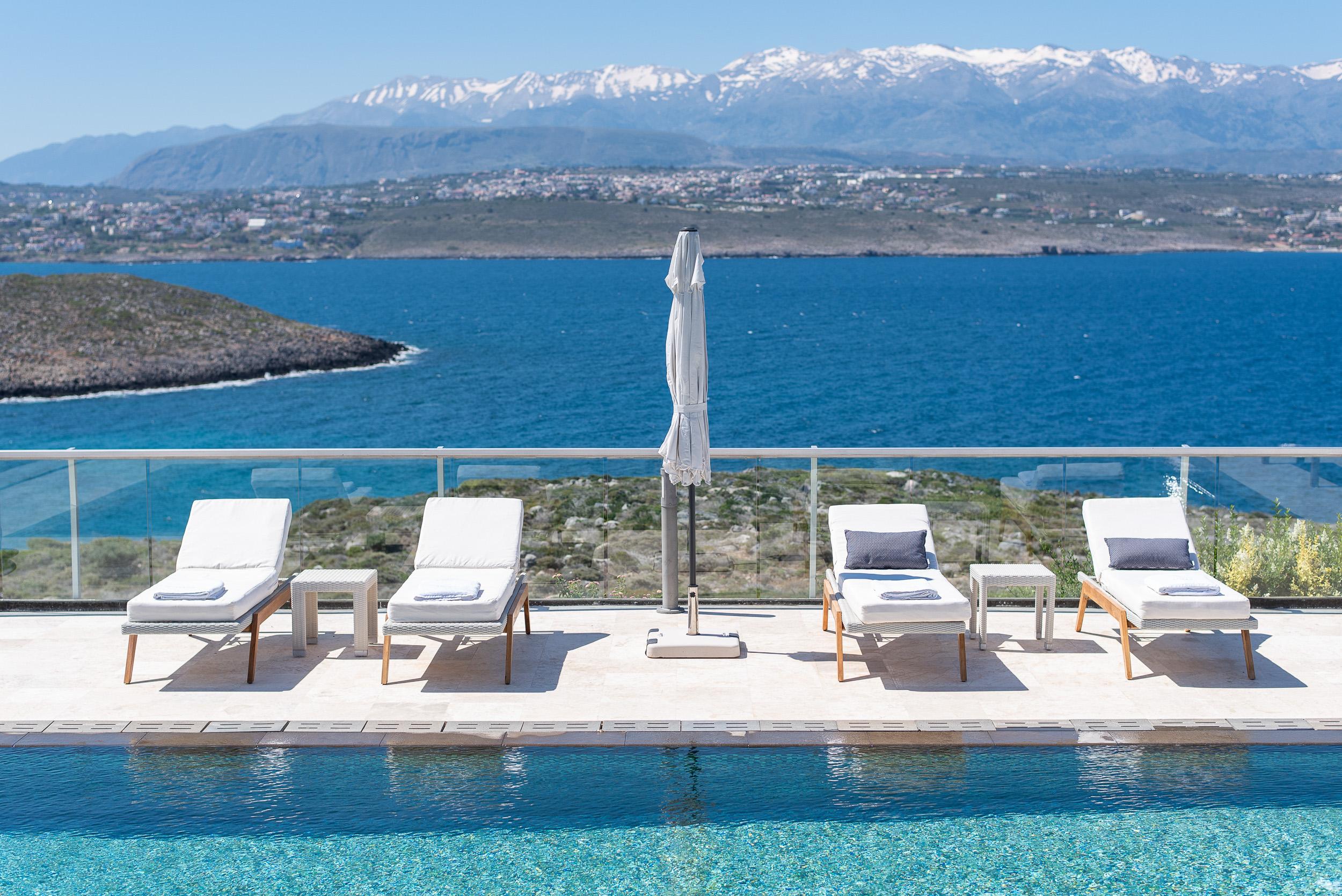 hotel for sale in crete akrotiri sea and mountain view