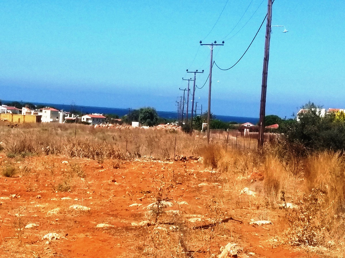 Plot land in Akrotiri Chania Crete for sale with sea views al249