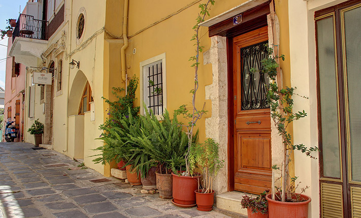 stone house for sale in chania old town entrance