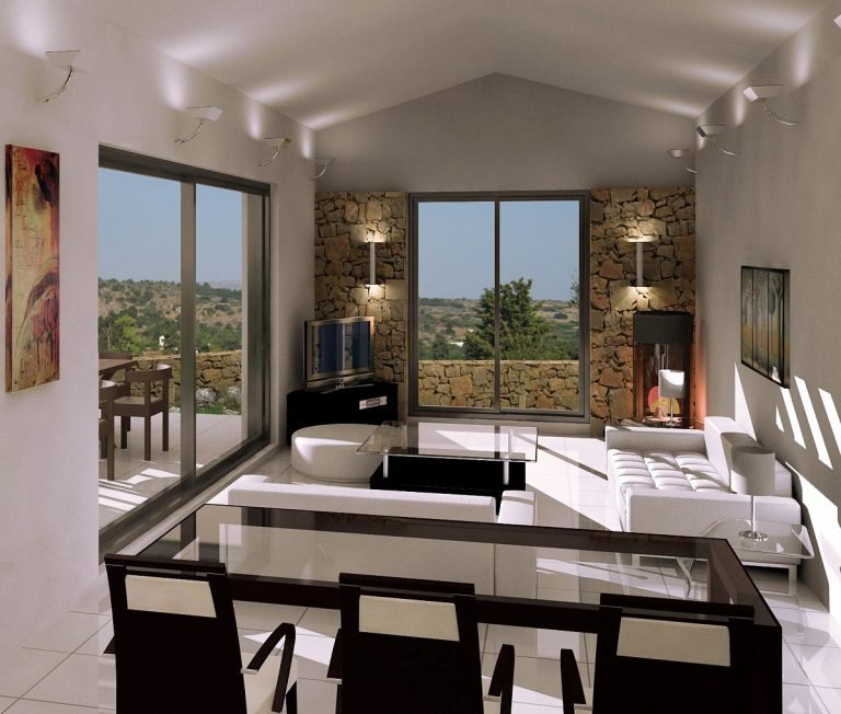Investment project for sale in Apokoronas Chania Crete dining area 3ds KH123