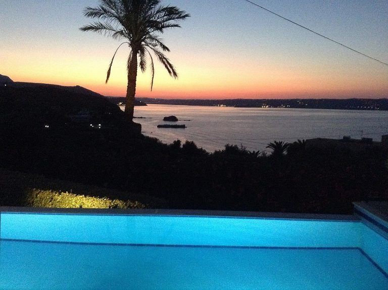 House for sale in Chania Crete evening views KH135