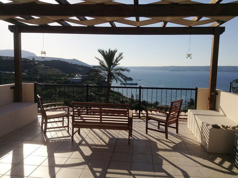 House for sale in Chania Crete roof terrace with sea views KH135