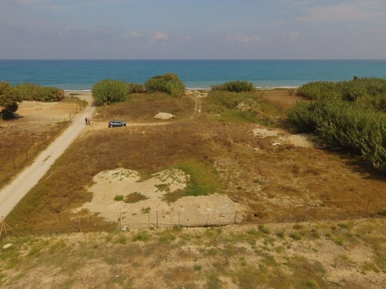 Seafront plot of land in Platanias Chania Crete for sale Rapaniana beach CL066