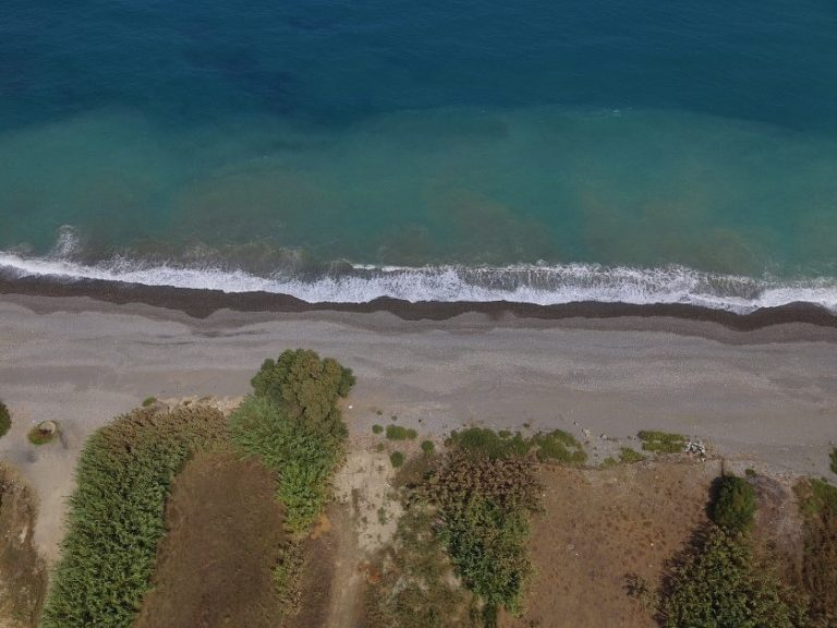 Seafront plot of land in Platanias Chania Crete for sale direct beach access CL066