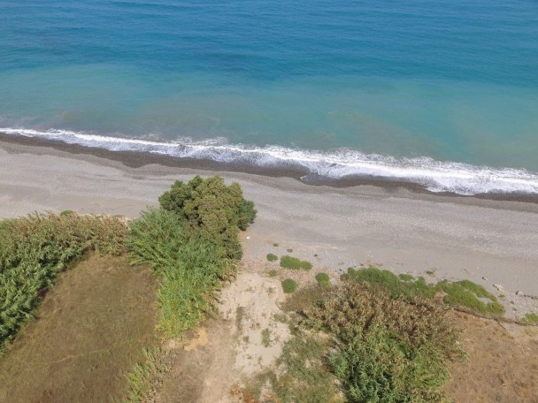 Seafront plot of land in Platanias Chania Crete for sale with beach access CL066