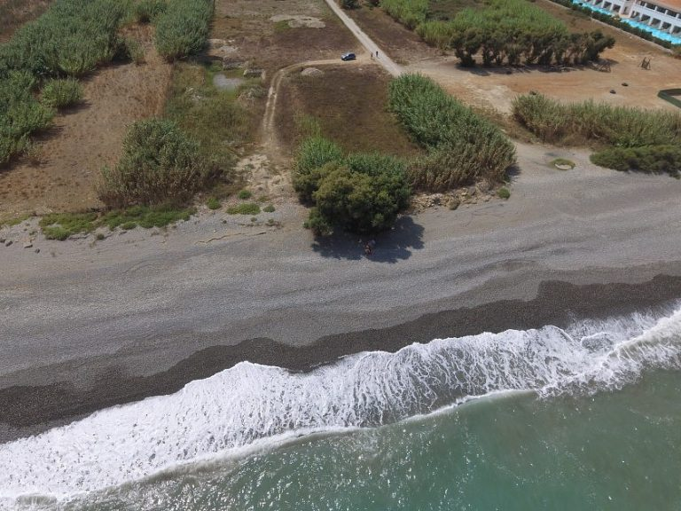 Seafront plot of land in Platanias Chania Crete for sale sea line CL066