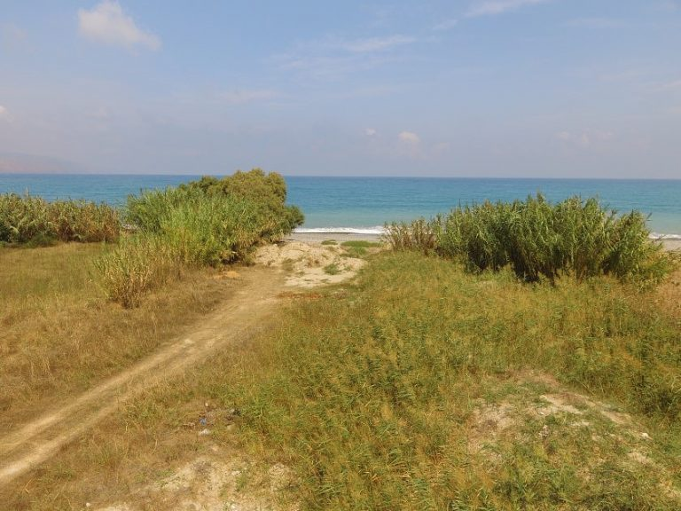 Seafront plot of land in Platanias Chania Crete for sale direct sea access CL066