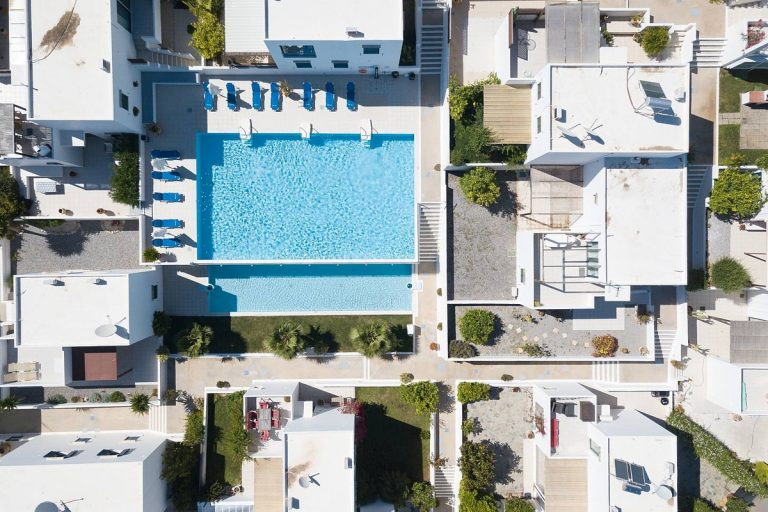 apartment for sale in rethymno crete pool aerial view