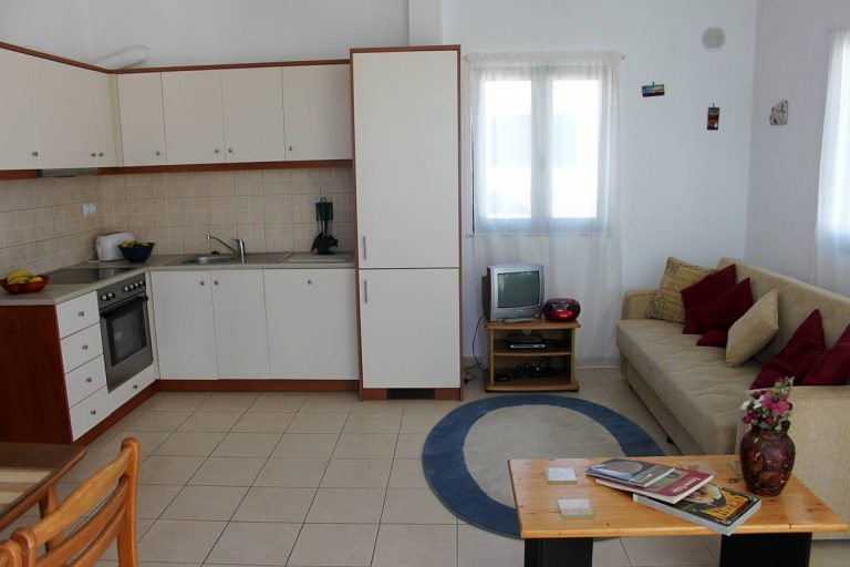 apartment for sale in rethymno crete kitchen and living