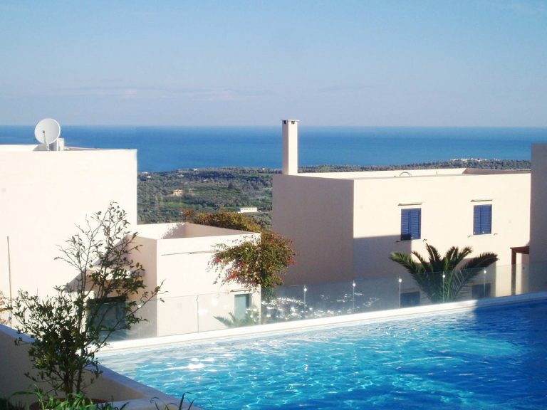 house for sale in rethymno crete pool and sea view