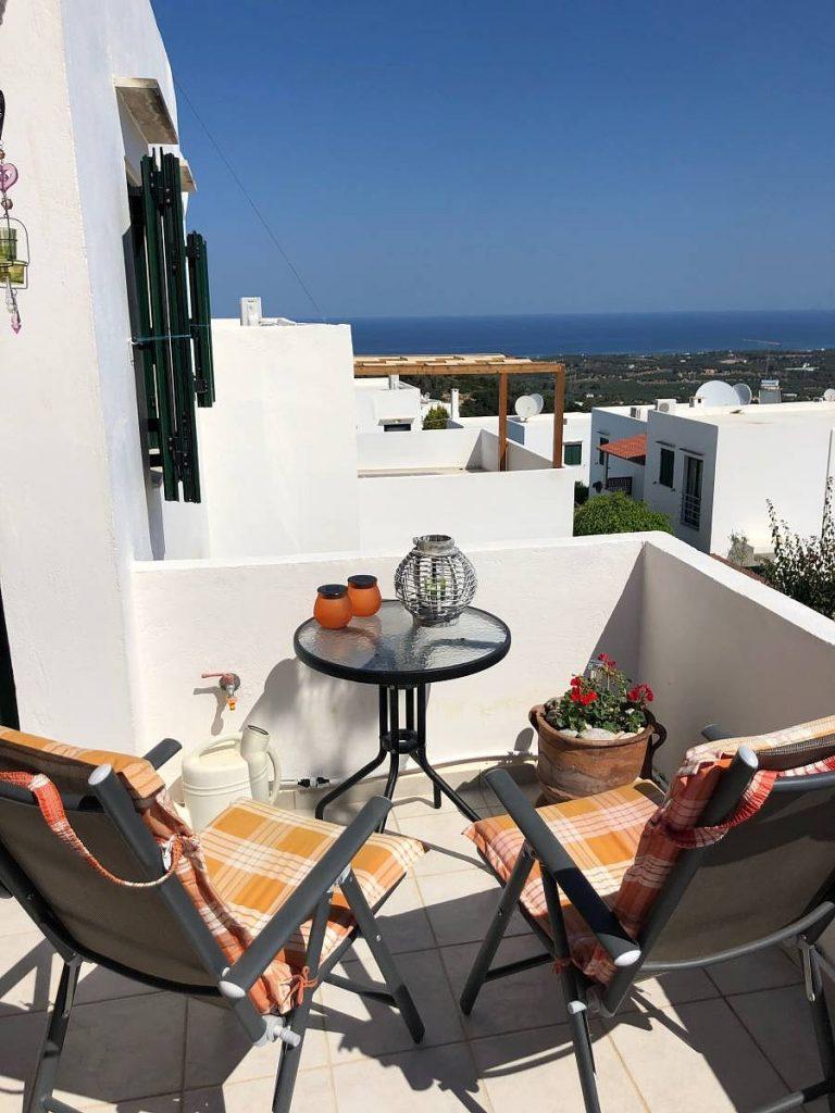 apartment for sale in rethymno crete sea view balcony