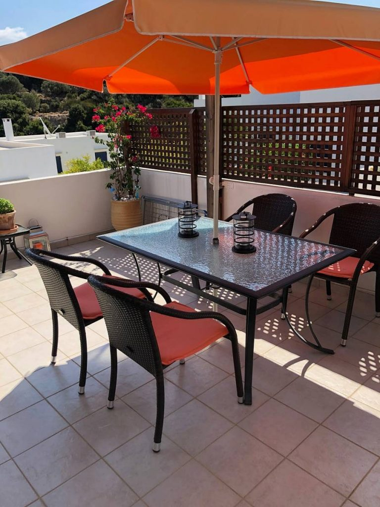 apartment for sale in rethymno crete outdoor dining area