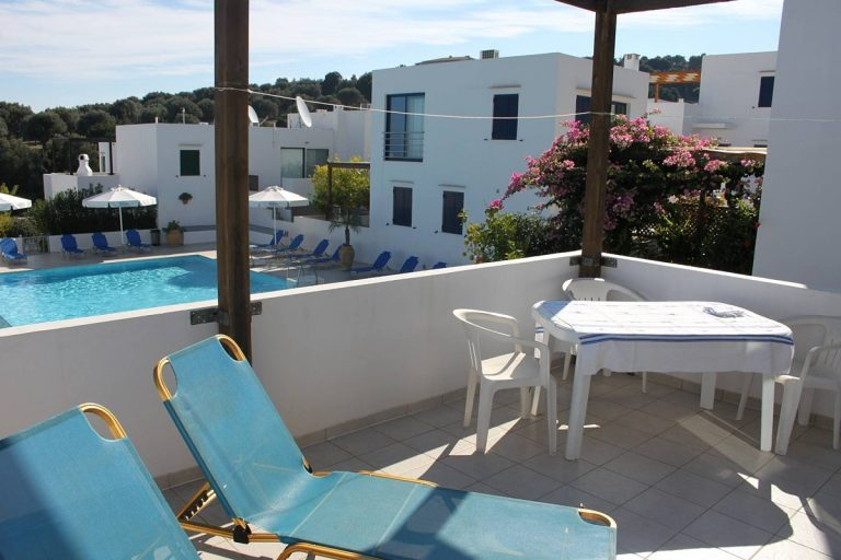 apartment for sale in rethymno crete balcony and pool