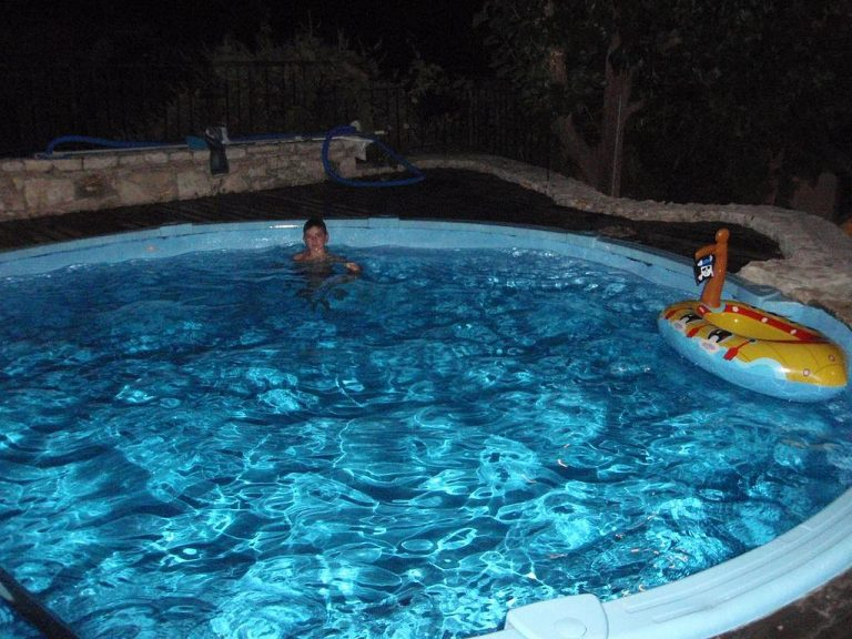 Guesthouse in Apokoronas Chania Crete for sale pool by night KH142