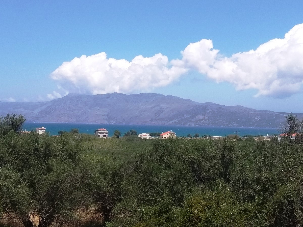 Plot of land in Kissamos Chania Crete for sale with sea views CL079