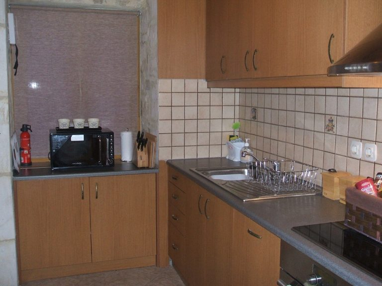 Stone house for sale in Rethymnon Crete kitchen area RH015