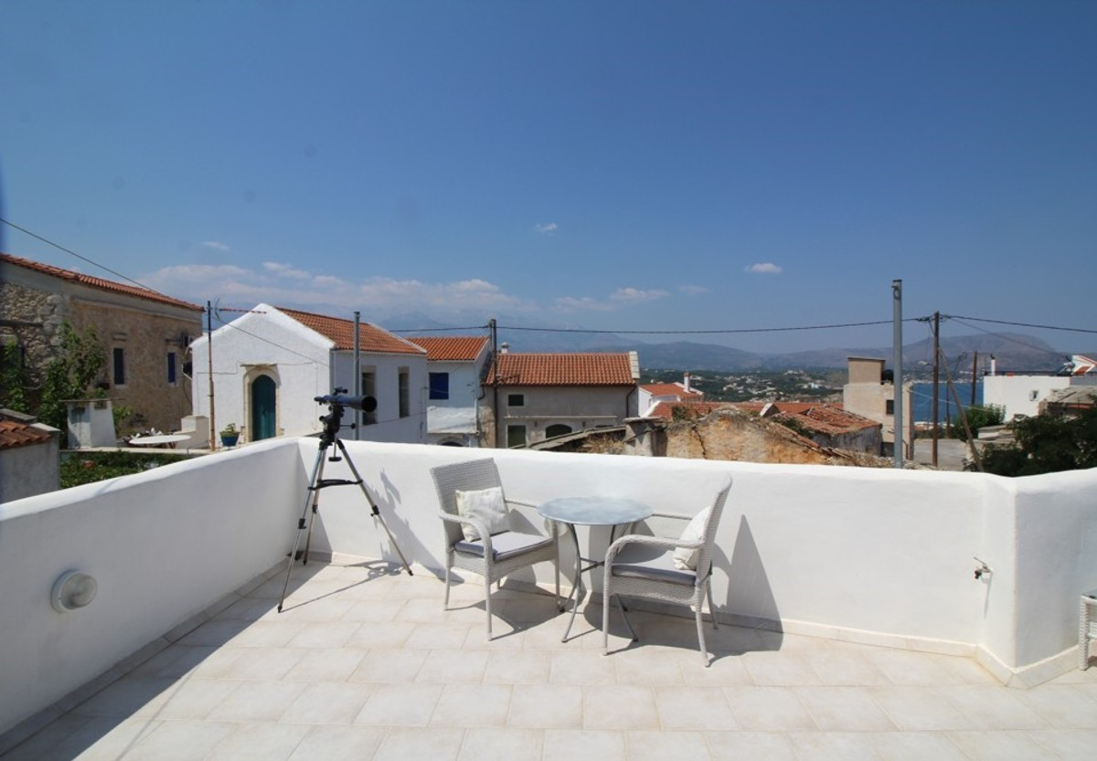 Renovated house for sale in apokoronas chania kh161 amazing terrace