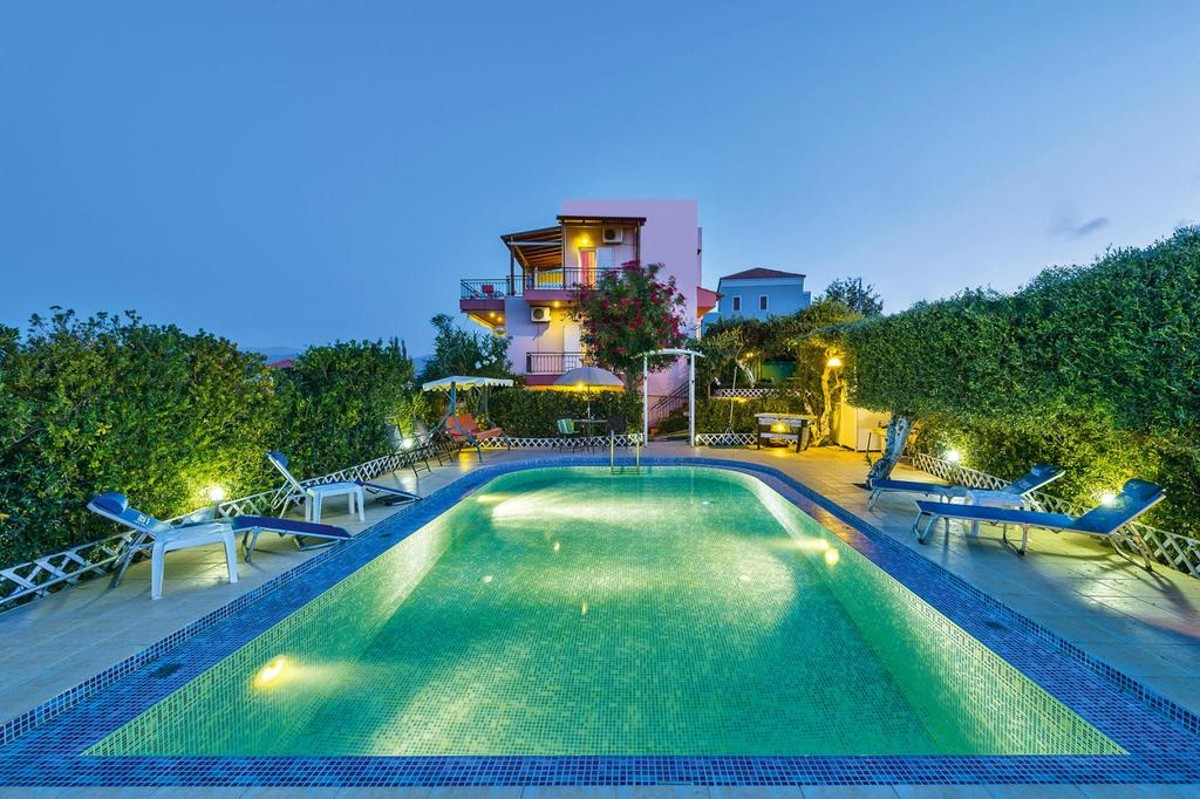 house for sale in kolymbari chania ch134 night view