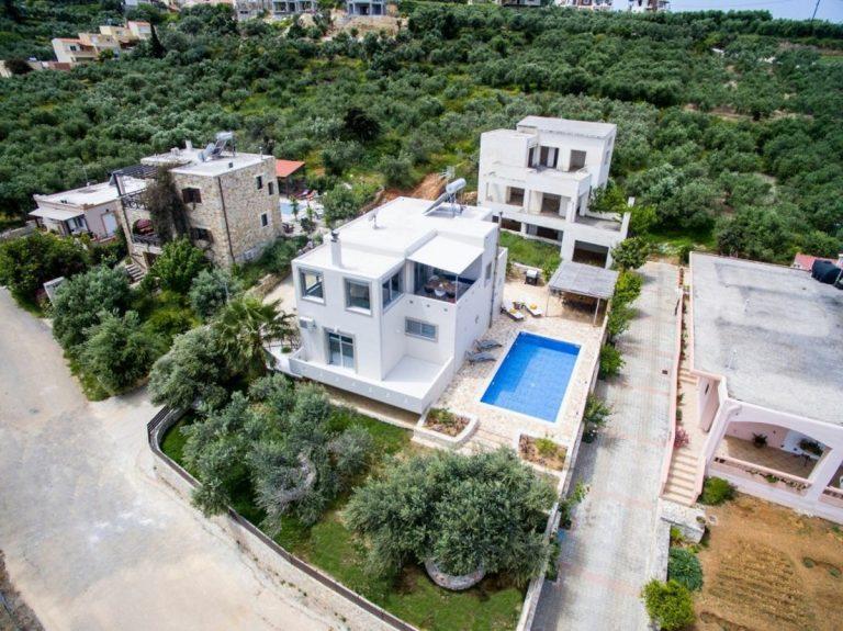 villa for sale in chania ch142 drone photo