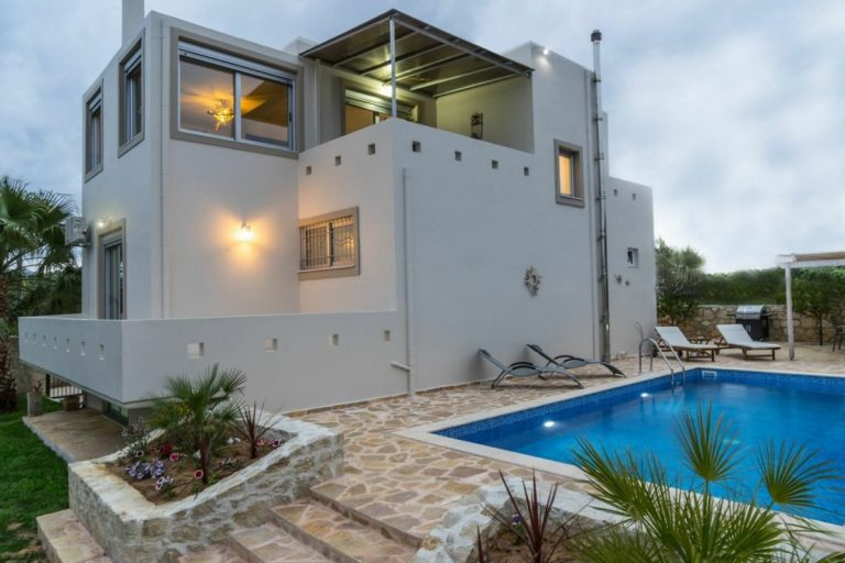 villa for sale in chania ch142 the villa and pool