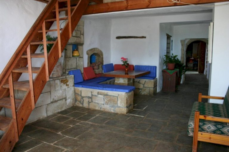 village house for sale in apokoronas chania kh175 seating area